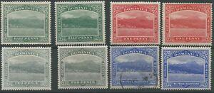 Dominica SG47, 47b, 48, 48b, 49, 49b, 50, 50b 1908-20 1/2d to 3d; 6d x2 M/M (50b