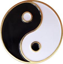 3964 Black White Yin Yang Symbol Taoist Taoism Chinese Enamel Pin Button Lapel