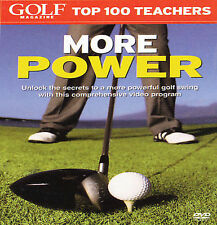 GOLF MAGAZINE TOP 100 TEACHERS MORE POWER NEW & FACTORY SEALED  DVD