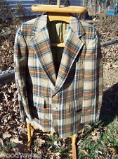 Retro Rocker Deansgate Vintage Jacket Indie Small Brown plaid  Guitar player