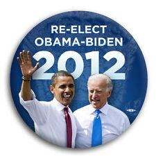 """Re-Elect Barack Obama Joe Biden 2012 President Button Pin Liberal Democrat 3"""""""