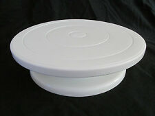 DAMAGED Wilton White Plastic Small Cake Stand Lazy Susan Spinning Style 415-900