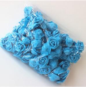 10-500PCS 6CM PE Foam Roses Artificial Flower Wedding Bride Bouquet Party Decor