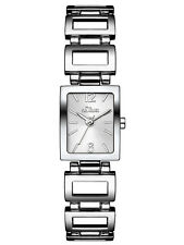 s.Oliver Damen Armbanduhr Edelstahl silber Juwelierschließe - SO-3023-MQ