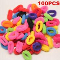 100Pcs Women Elastic Rope Ring Hairband Fashion Girls Hair Band Ponytail Holder