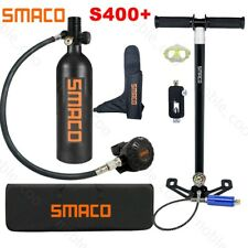Smaco Mini Scuba Diving Kit 1L Oxygen Tank Hand Pump Equipment Underwater Breath