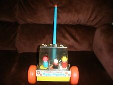 VINTAGE FISHER PRICE HAPPY HOPPERS LITTLE PEOPLE POPPER 1969 # 121 WORKS