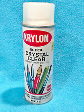 VINTAGE KRYLON CRYSTAL CLEAR SPRAY CAN - EMPTY - 6 oz CAN - COLLECTORS ITEM