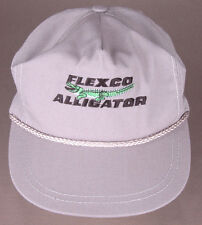 Vtg Flexco Alligator Hat-Grey-Leather Stra--Rope Bill-Staple Fastener Conveyer