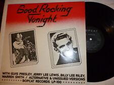 Jerry Lee Lewis / Elvis Presley ~ Good Rocking Tonight Bopcat LP 100 not TMOQ