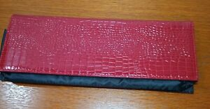 BaByliss PRO Nano Titanium Storage CASE ONLY Red Faux Alligator Heat Resistant