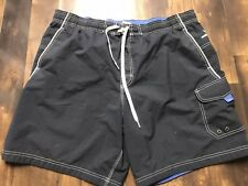 speedo Men's swim trunks size XL Blues and white trim Mm14
