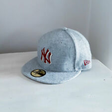 New York Yankees MLB Grey 59FIFTY Fitted Baseball Cap - size 7 1/4