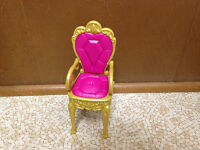 Barbie The Diamond Castle Princess Hot Pink Gold Dining Room Chair Furniture