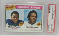 1977 Topps Football Rushing Leaders #3 Walter Payton OJ Simpson NM-MT HOF PSA 8