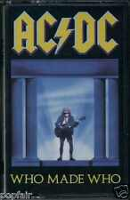 """AC/DC - WHO MADE WHO 1986 UK CASSETTE ATLANTIC - WX 57C OST """"MAXIMUM OVERDRIVE"""""""