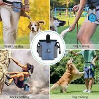 Pets Dog Walking Pouch Bag Puppy Training Treat Bag Dispenser Poo Holder L6C0