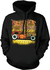 Rust Bucket Auto Group Vintage Car Racing Speed Hotrod Hoodie Pullover