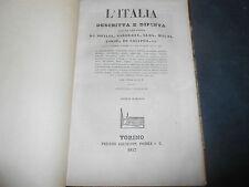 1837 AUDOT L'ITALIA DESCRITTA E DIPINTA SICILIA E MALTA 29 INCISIONI ED.POMBA