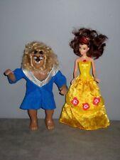 Disney poupée Mattel  la Belle ( Musicale ) et la Bête en Plastique dur(26/30cm)