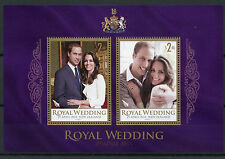 New Zealand NZ 2011 MNH Royal Wedding Prince William & Kate 2v MS Royalty Stamps