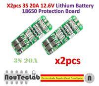 2pcs 3S 20A 12.6V Li-ion Lithium 18650 BMS PCM Battery Protection Board