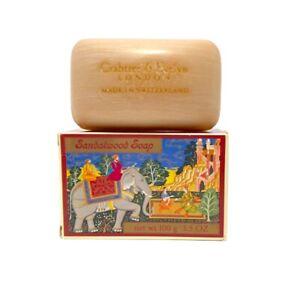 Vintage Crabtree & Evelyn Sandalwood Soap 3.5 oz Bar Switzerland 1976 New in Box