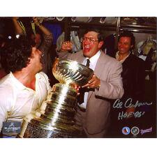 Al Arbour New York Islanders Signed 8x10 Stanley Cup Photo
