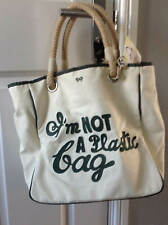Anya Hindmarch I'm Not A Plastic Bag Tote Handbag, Hand Stitched Brown or Green