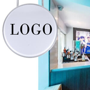 """24"""" Round LED Double Sided LED Light Box Advertising Projecting Sign Waterproof"""