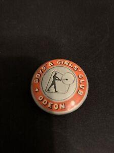 Odeon Cinema Boys and Girls Club Pin Badge 1960's.