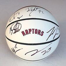 2015 TORONTO RAPTORS TEAM Signed Autographed Basketball COA! WILLIAMS/ROSS++