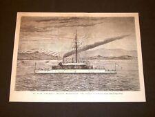 Guerra Oriente nel 1878 Nave corazzata d'Inghiterra Devastation Golfo di Ismidt