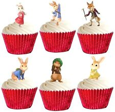 24 PETER RABBIT premium STAND UPS edible cake toppers decorations party