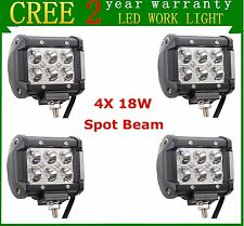 "4X 4"" 18W Cree LED Work Light Bar Spot Off-road Fog Driving SUV 4WD Truck Lamp"