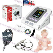 Neonate/Infant Digital Blood Pressure Monitor CONTEC08A+SPO2 PR+PC Software,USA