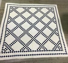 Hand Sewn Blue And White Quilt Lot 3125
