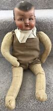 Antique Vintage Composition Doll Cloth Body England C.1930s Well Loved Needs TLC