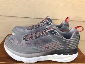 Hoka One One Bondi 6  Men's Athletic Running Shoes Sneakers Grey Size 14