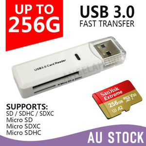 2 In 1 USB 3.0 Card Memory Reader High Speed SD SDHC SDXC Micro Writer Adapter