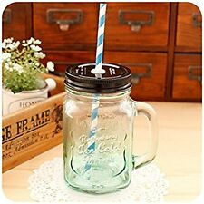 Casa's Multicolor Glass Mason Style Jar Mug