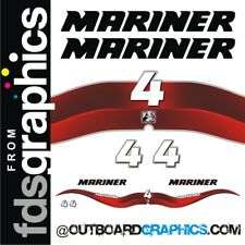 Mariner 4hp 4 stroke outboard decals/sticker kit