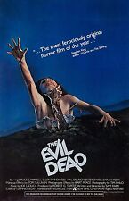The Evil Dead movie poster : 11 x 17 inches : Bruce Campbell, Sam Raimi