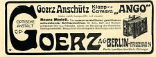 "Klapp- Camera ""Ango"" Goerz- Anschütz Berlin Friedenau Historische Werbung 1907"
