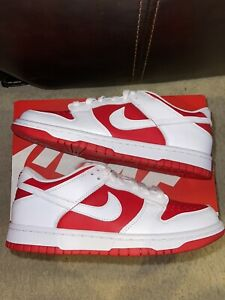Nike Dunk Low Championship University Red Sz 7y (8.5W) Brand New 100% Authentic!