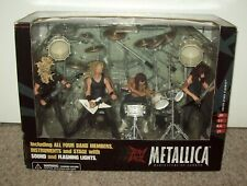 2001 Metallica Box Set MISB Figures & Stage McFarlane Toys guitar t shirt tix