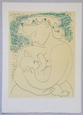 "Picasso Pablo ""Maternity"" 1963 lithograph Hand Signed in the Plate"