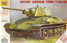 Zvezda 1/72 T-34/76 Soviet Medium Tank (Mod. 1943) # 5001