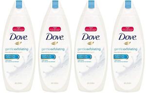 4 pack Dove Gentle Exfoliating Nourishing Body Wash 22oz each