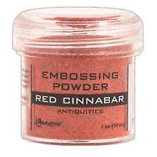 Ranger Embossing Powder 30ml Jar Red Cinnabar.